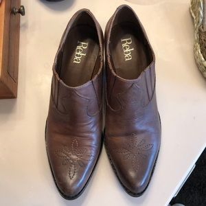 REBA brown leather booties
